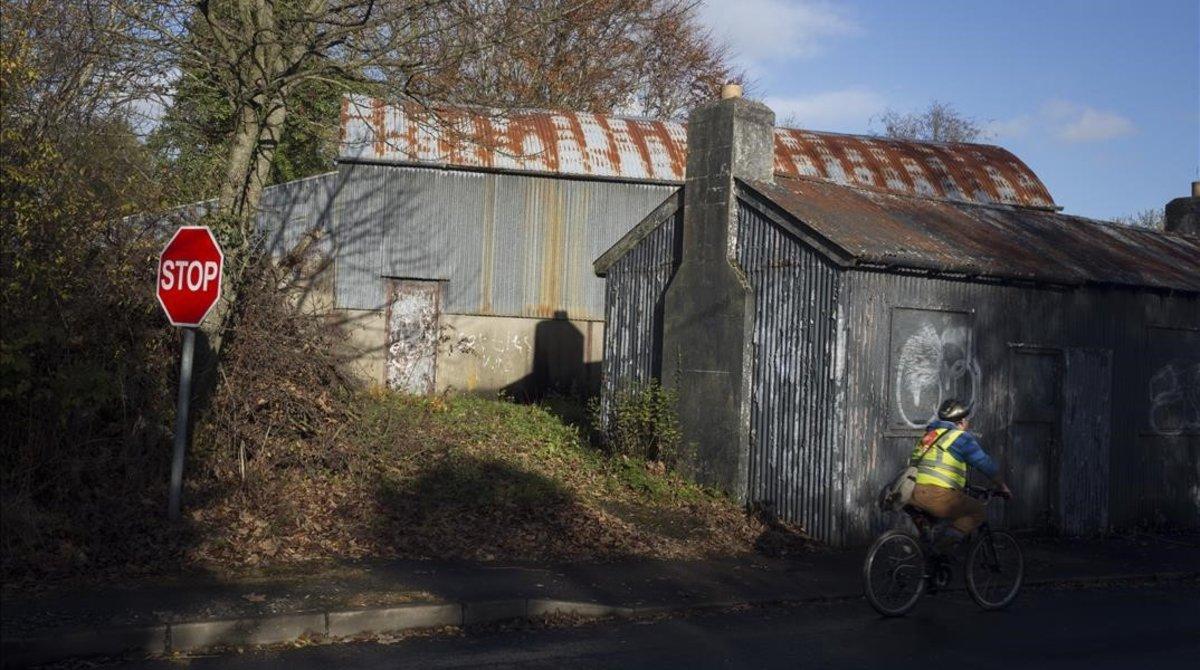 Antiguo puesto fronterizo entre Irlanda e Irlanda del Norte, en la localidad de Muff.
