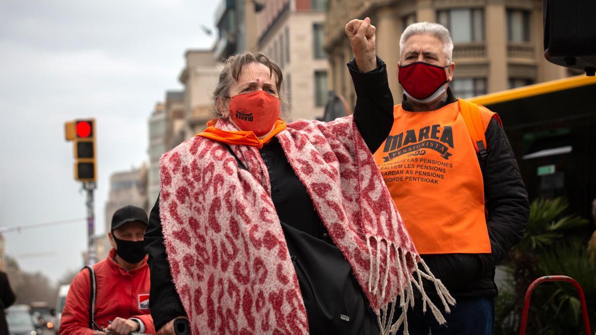 Los pensionistas se movilizan contra la brecha de género en las prestaciones