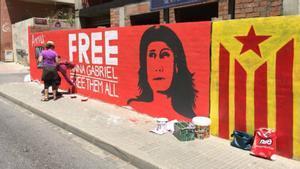 El mural de Anna Gabriel en Reus.
