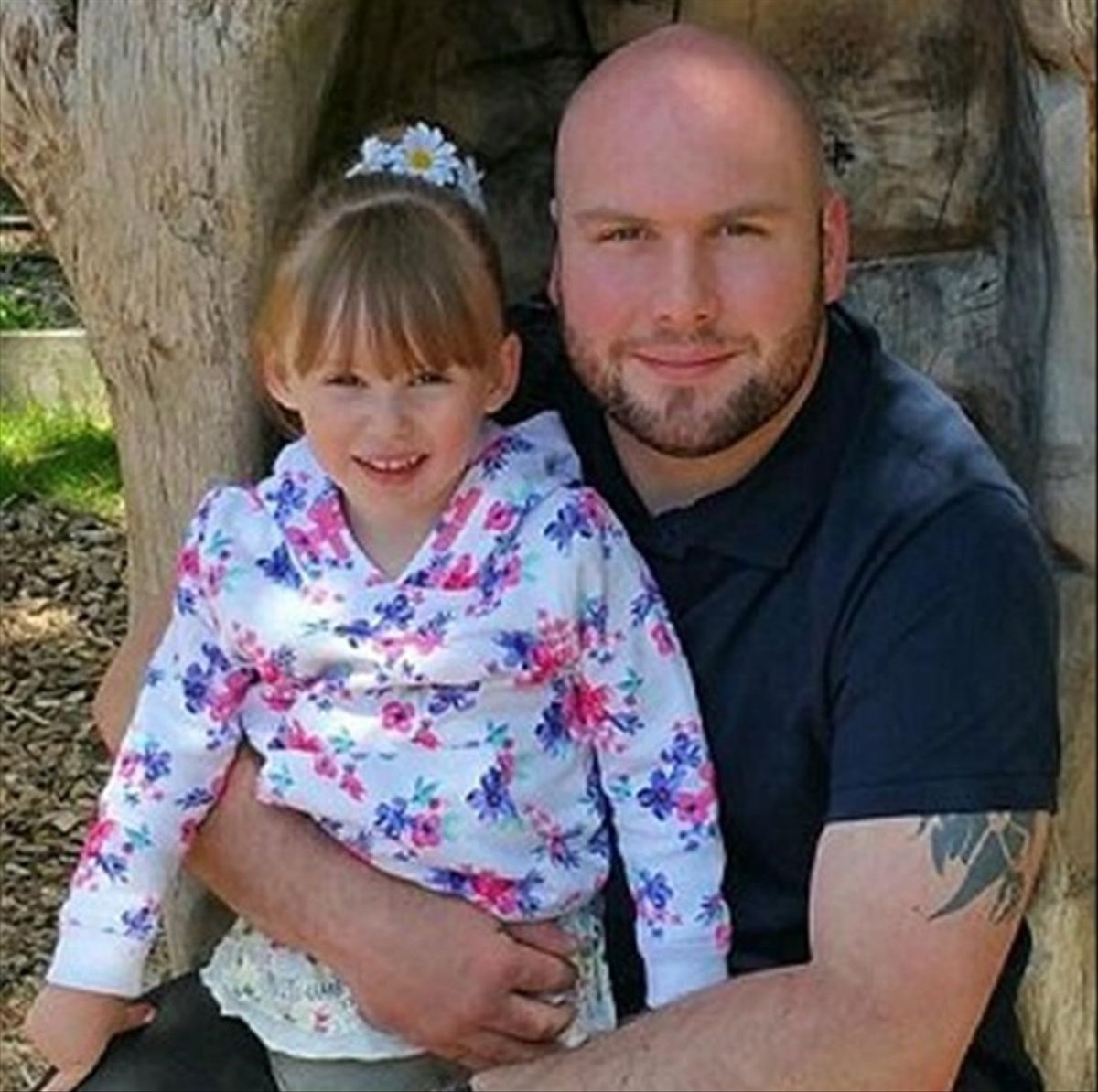 Andy Whelan con su hija Jessica.