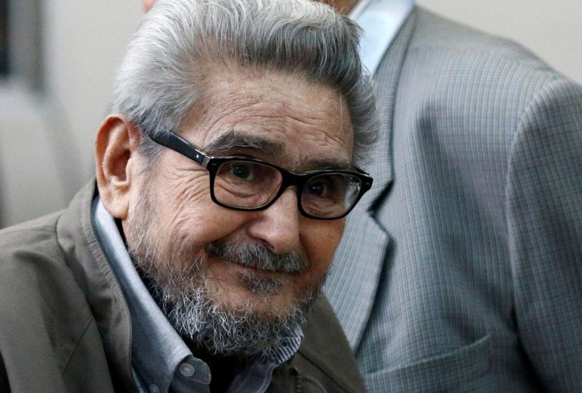 El fundador de Sendero Luminoso, Abimael Guzmán, en una foto de archivo del 2017.