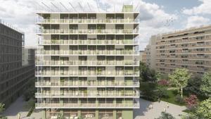 Imagen de archivo de un bloque de viviendas puesto en marcha por el ayuntamiento de Barcelona