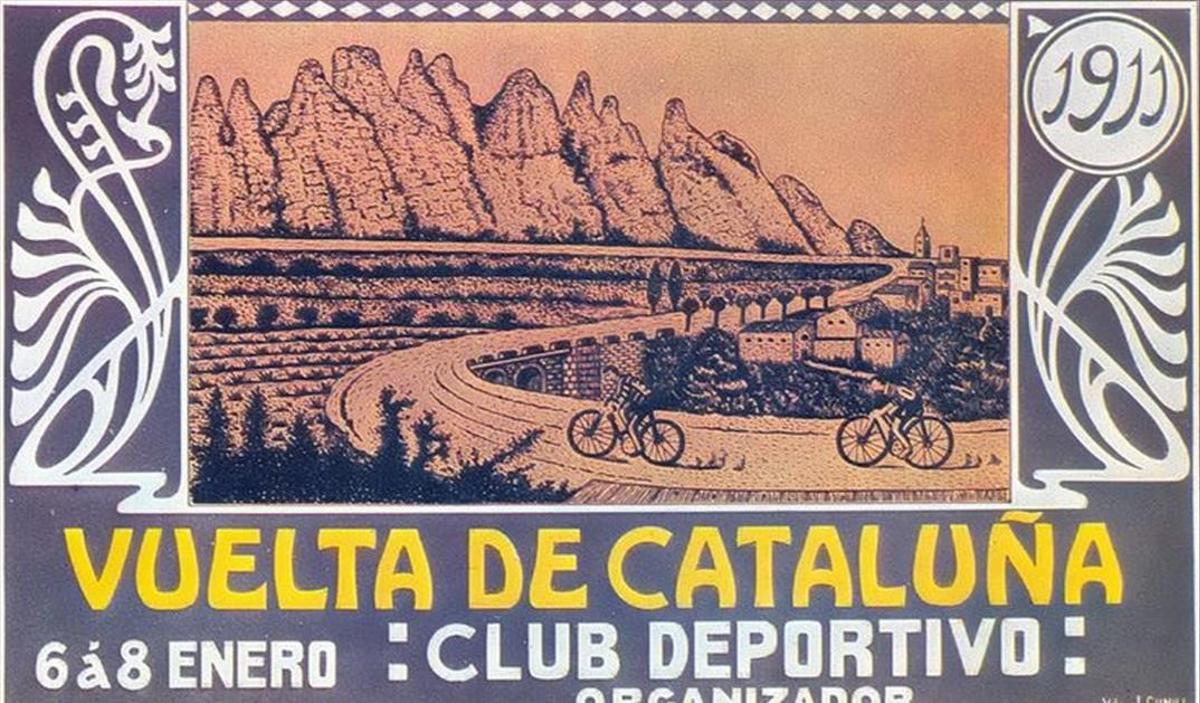 Cartel de la Volta Ciclista a Catalunya de 1911.