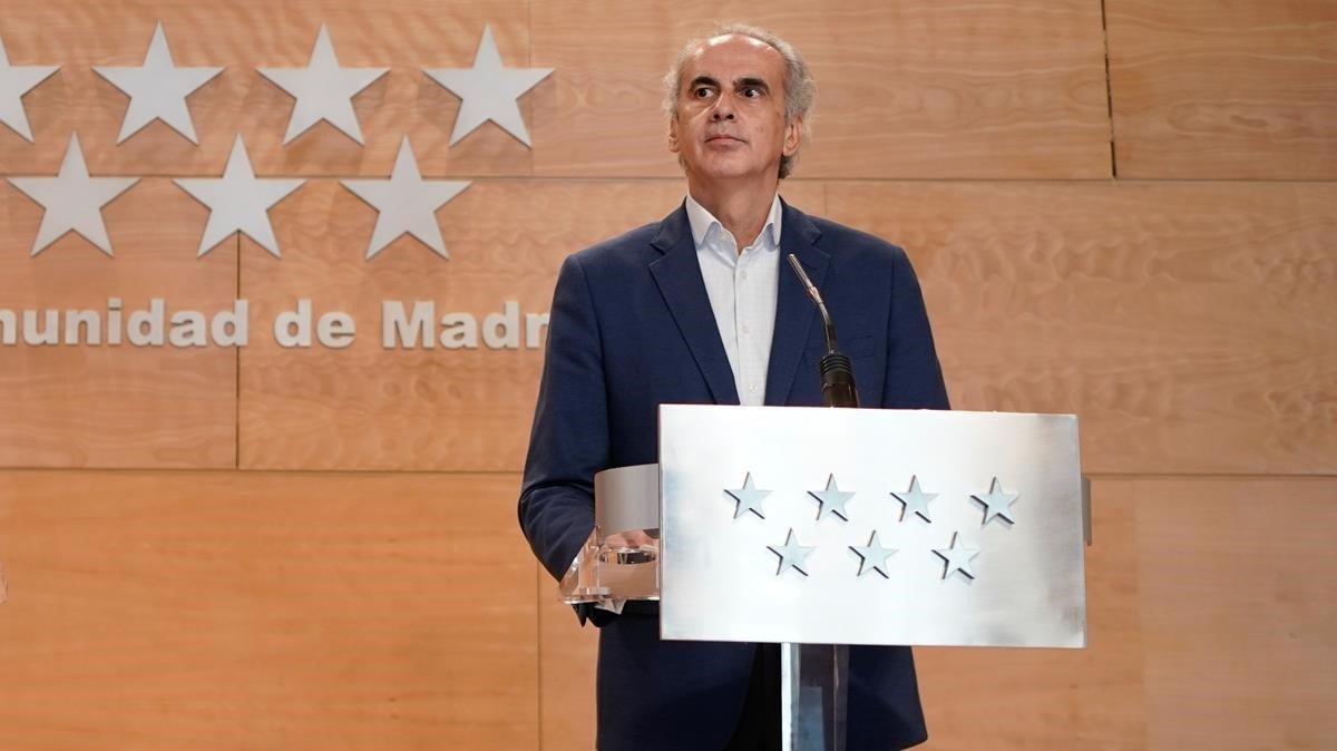 El consejero madrileño de Sanidad, Enrique Ruiz Escudero.