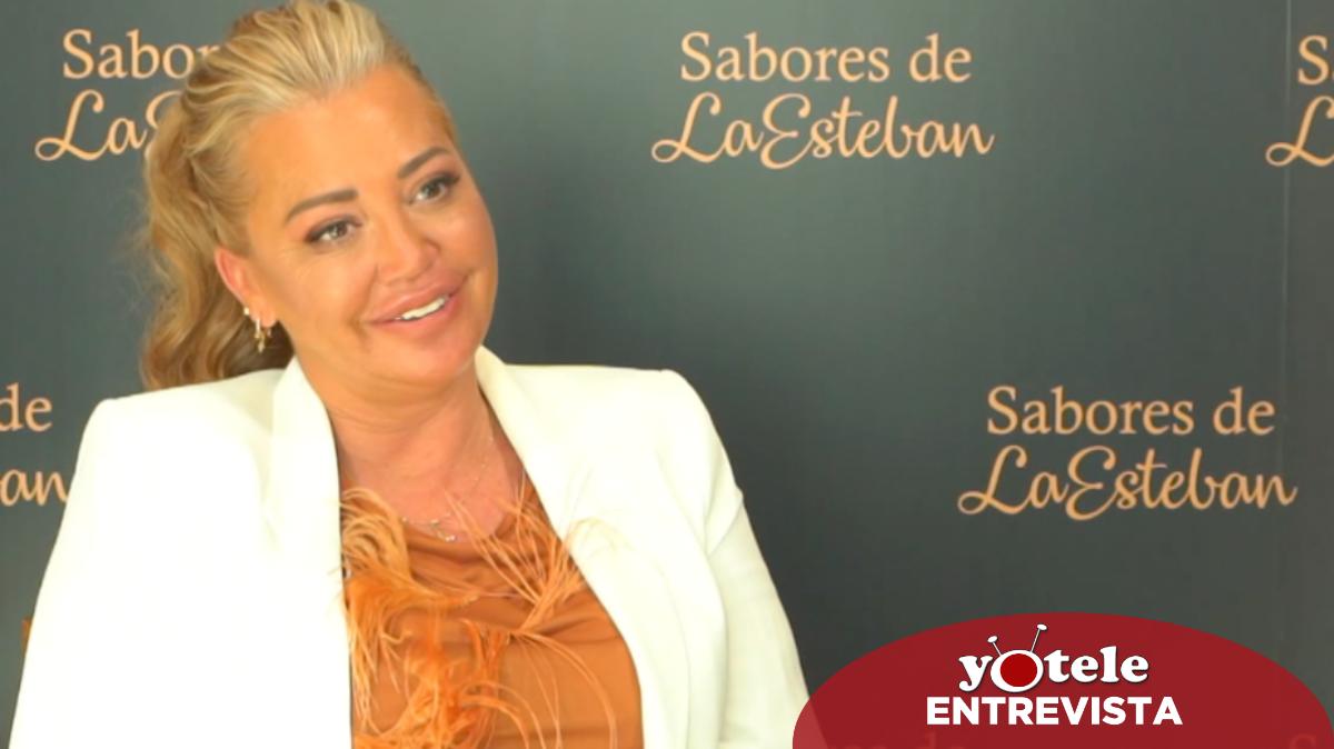 Belén Esteban en la presentación de los nuevos productos de 'Sabores de la Esteban'