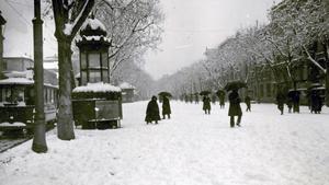 Una imagen de la Rambla nevada, en el siglo XVIII.