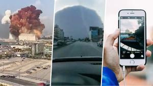 El instante de la explosión de Beirut es uno de los más documentados de la historia.