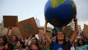 Manifestación contra el cambio climático, el pasado 27 de septiembre en Barcelona.