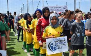 Equipo femenino de fútbol en Marruecos.