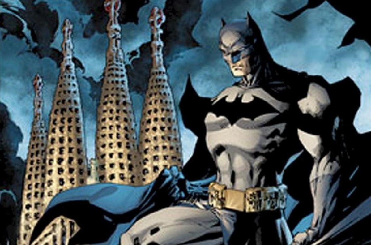 Ilustración de Jim Lee para el álbum 'Batman en Barcelona. El Cabalero del Dragón', del 2009.
