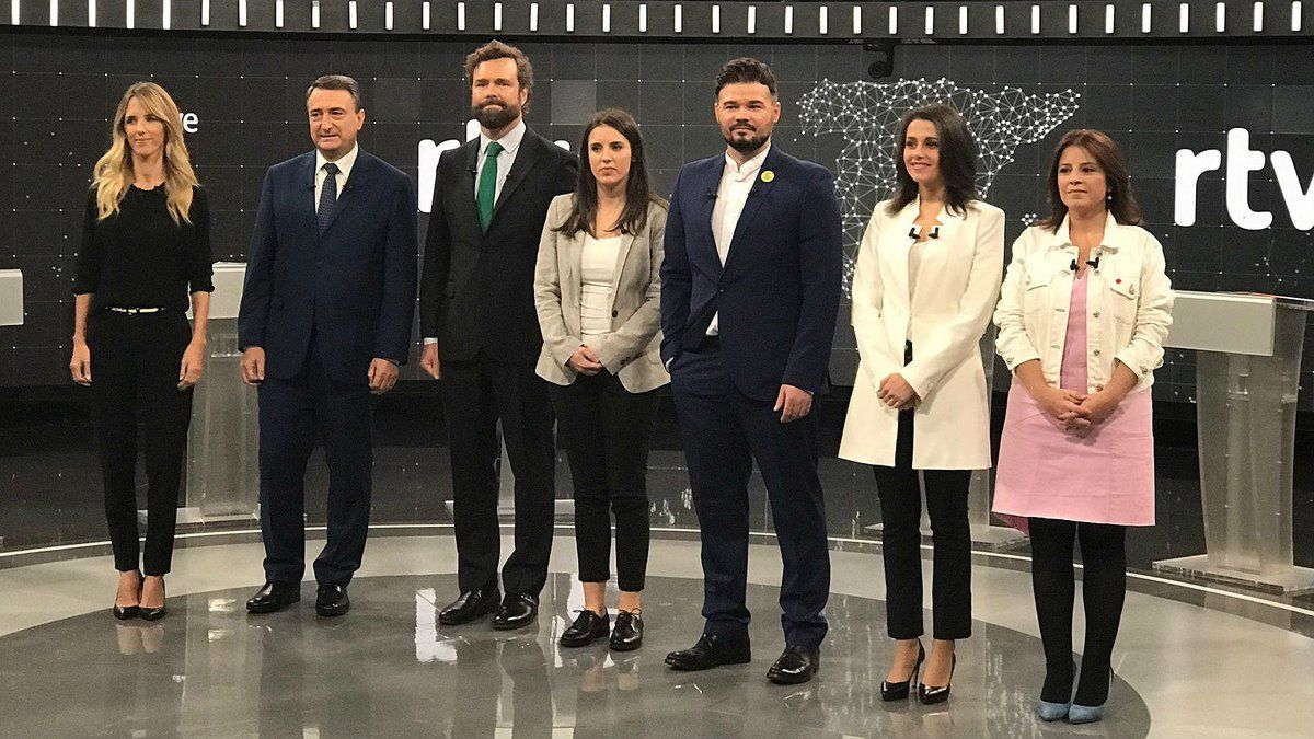 Los participantes en el debate de RTVE del viernes por la noche.