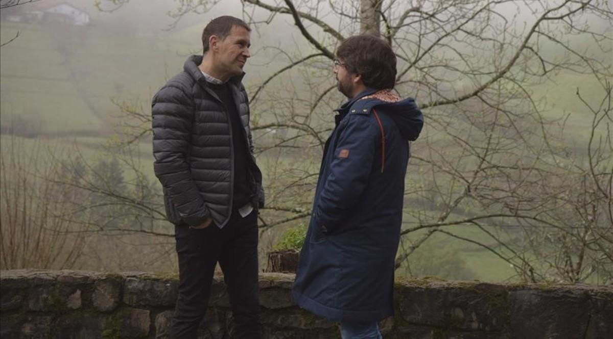 Arnaldo Otegi y Jordi Évole.