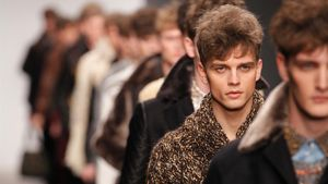 Model on the runway at the James Long Fashion Forward Men s Autumn Winter fashion show during London Fashion Week  London 20 February 2012 (Photo by Paul Cunningham Corbis via Getty Images)