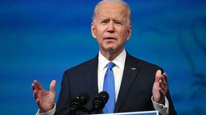 US President-elect Joe Biden delivers remarks on the Electoral college certification at the Queen Theatre in Wilmington  Delaware on December 14  2020  (Photo by ROBERTO SCHMIDT   AFP)
