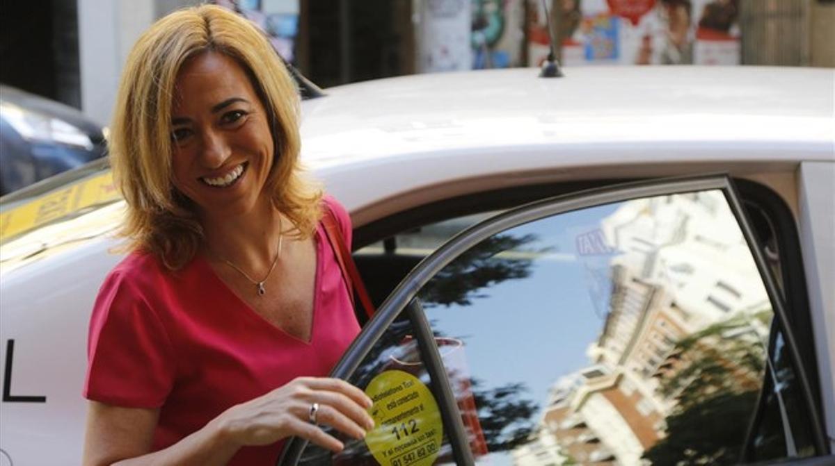 Carme Chacón, el pasado 3 de junio, a su llegada a la comisión permanente del PSOE.