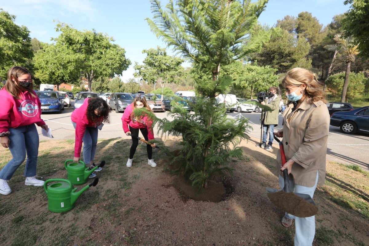 La Alcaldesa de Gavà planta un árbol por Europa