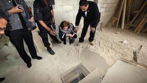 Este es el primer túnel que se construyó para que el El Chapo lograse fugar del penal El Altiplano.