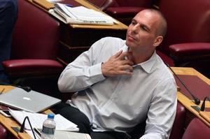 Varoufakis, en una sesión del Parlamento.