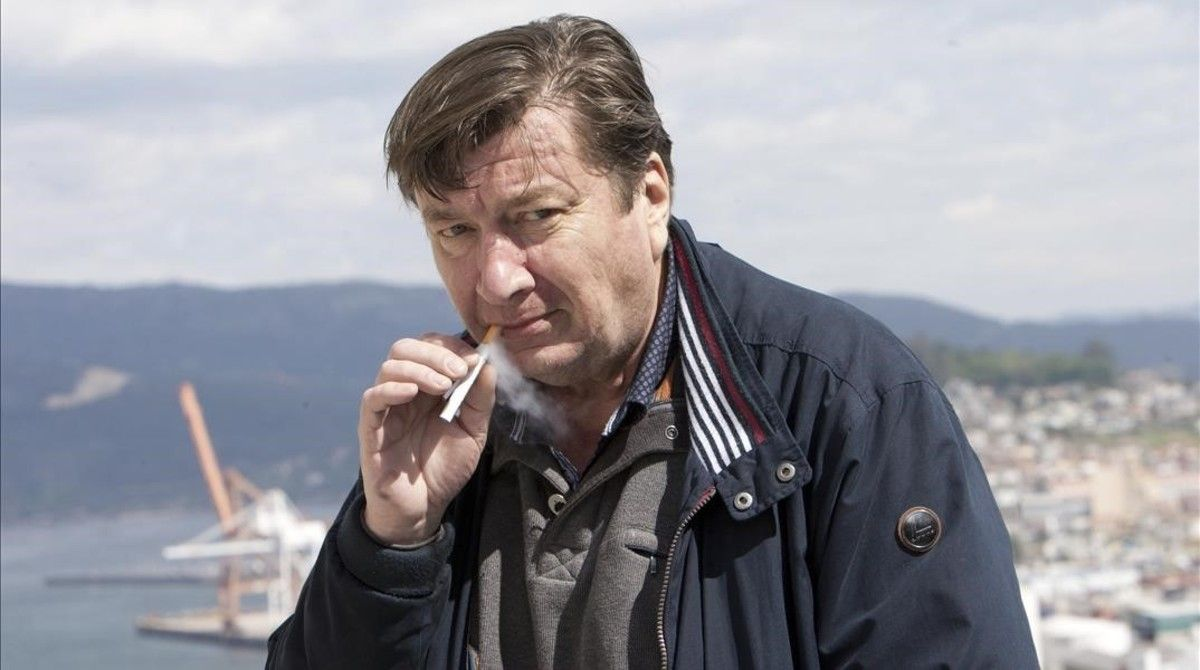 Aki Kaurismäki, en Vigo, donde presentó 'El otro lado de la esperanza'.