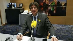 Carles Puigdemont entrevistado por Catalunya Ràdio.