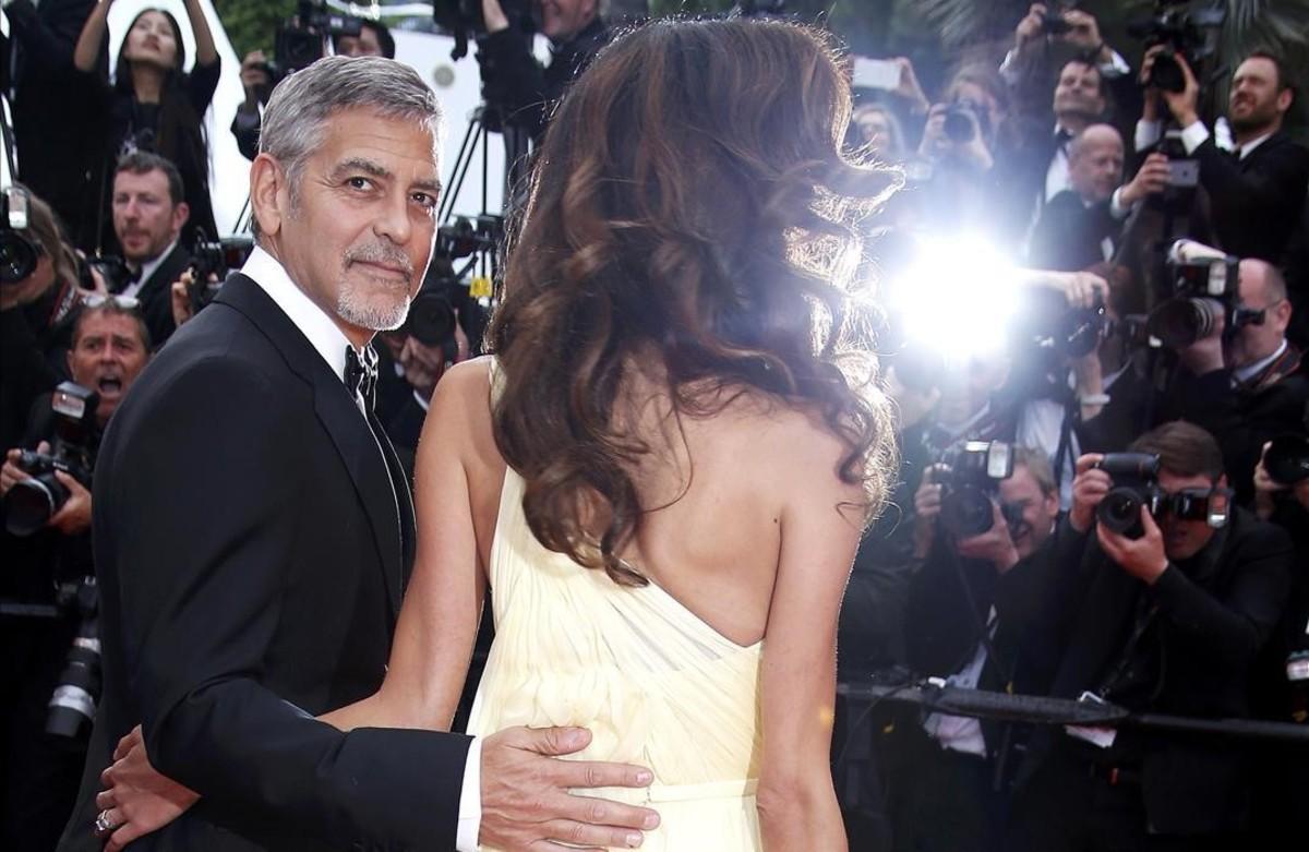 George Clooney y su esposa,Amal.