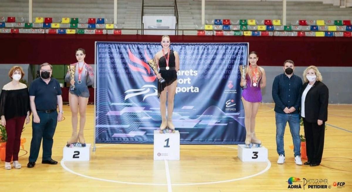 El Polideportivo Municipal Joaquim Rodríguez de Parets acoge la categoría senior del Campeonato de patinaje artístico