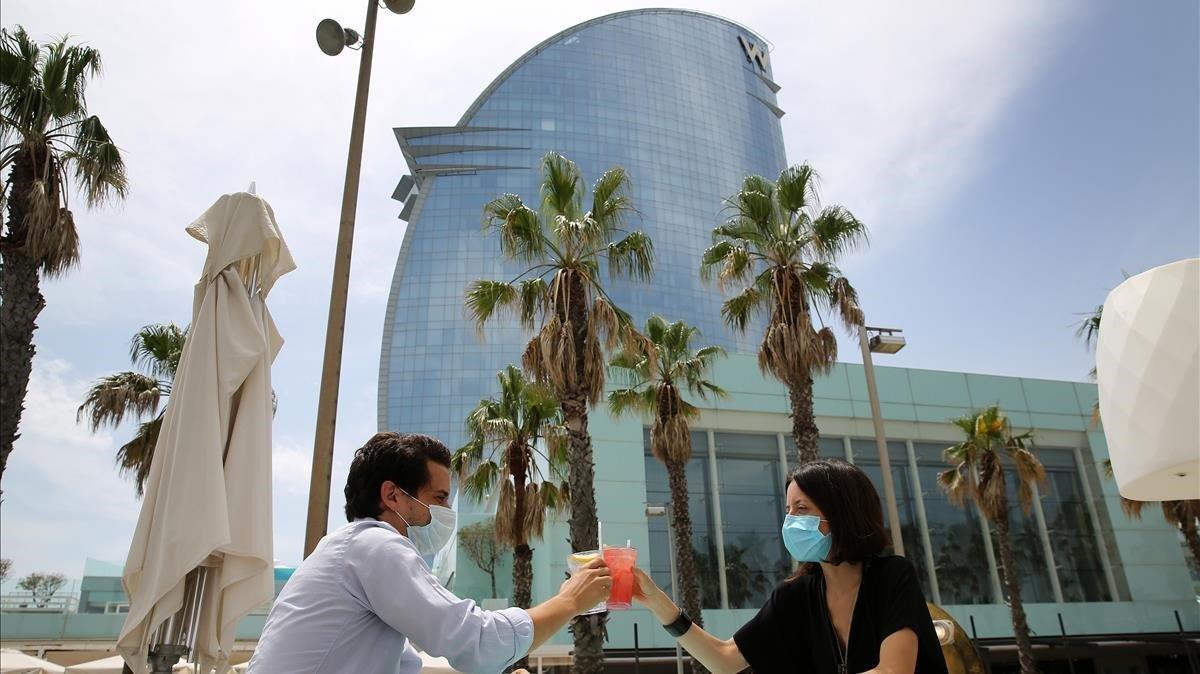 El Hotel Vela de Bacelona.