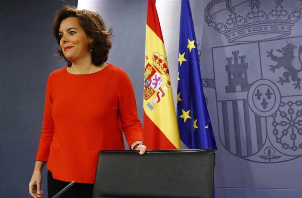 Soraya Sáenz de Santamaría, la número dos de Mariano Rajoy en su primer gobierno.
