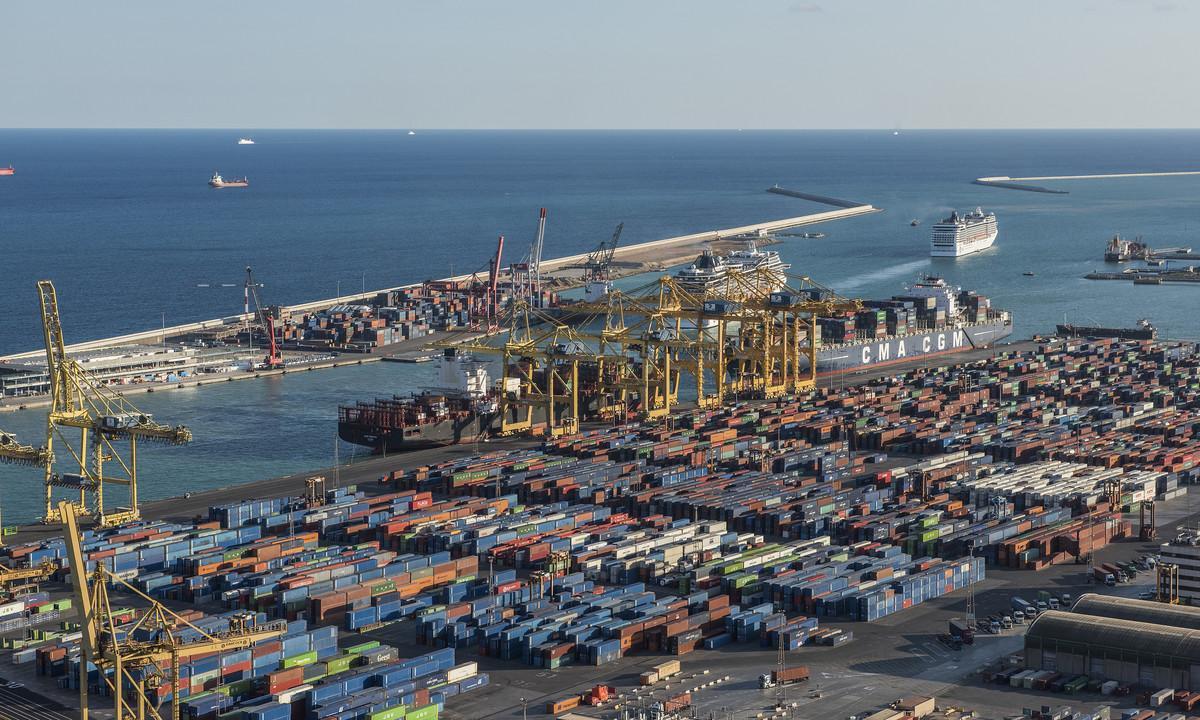 El Puerto de Barcelona.