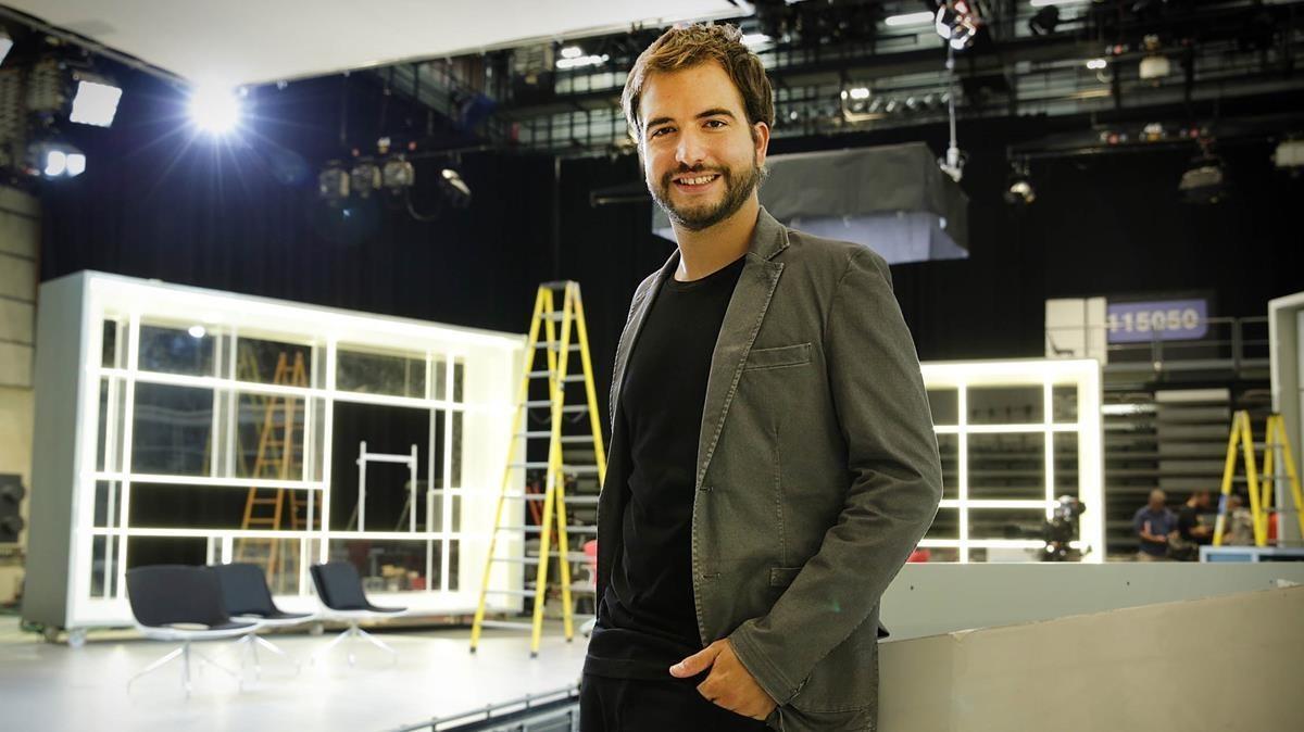 Ricard Ustrell (Sabadell, 1990), en su época en el programa de TV-3 'Preguntes freqüents'.