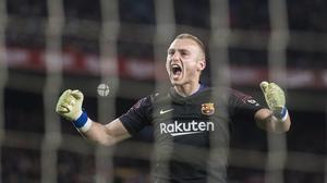 Jasper Cillessen, durante el partido del miércoles frente al Sevilla en el Camp Nou.