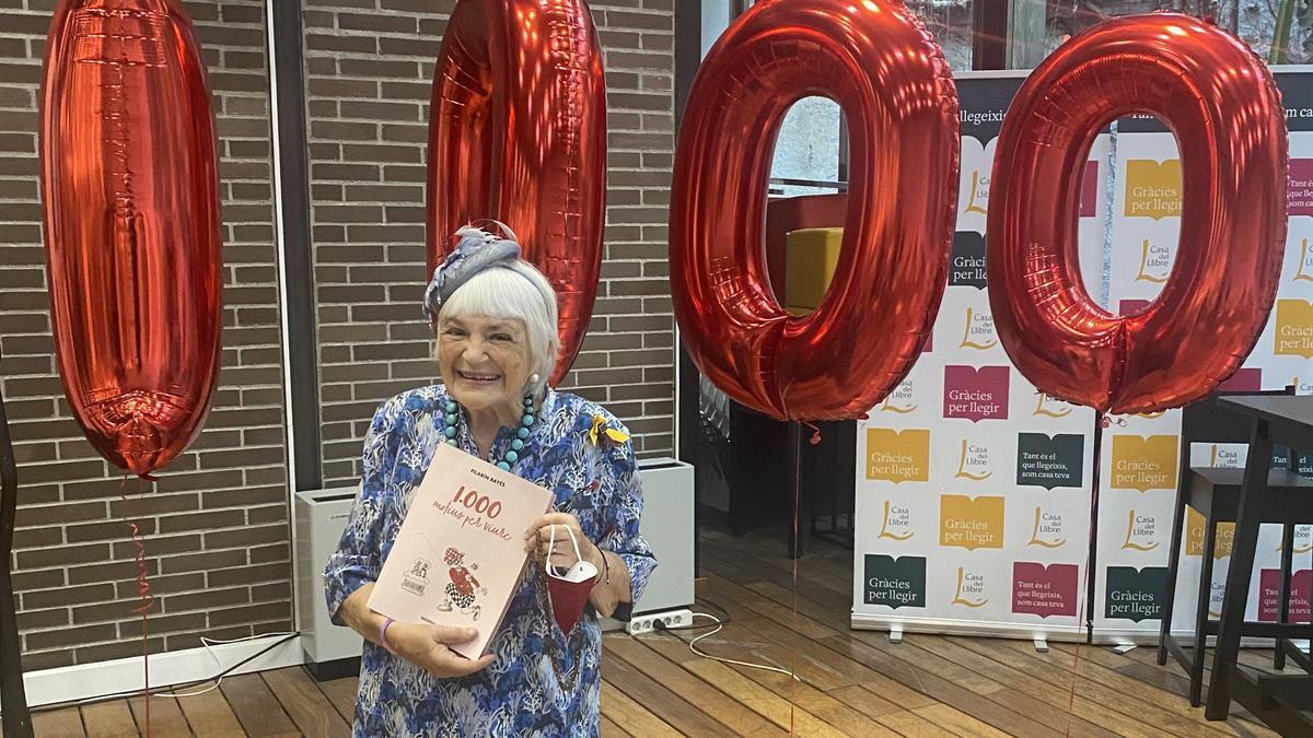 Pilarín Bayés, durante la presentación de su libro número 1.000, titulado '1.000 motius per viure'.