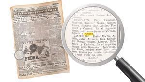 Hoja del diario 'Mediterráneo', en 1964.