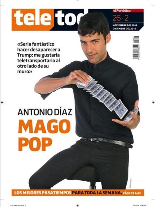 El Mago Pop, en la portada del 'Teletodo'.