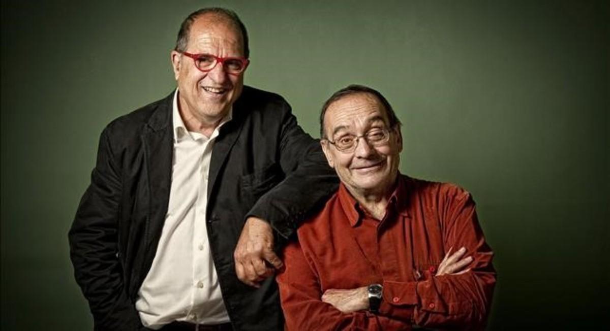 Carles Flavià, izquierda, junto a Manel Pousa, el Pare Manel.