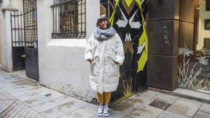 Agnès Busquets, en la calle de Sèneca.