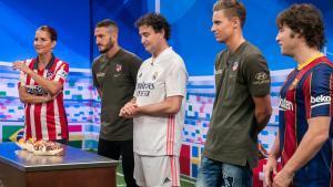El jurado de 'Masterchef Junior' con Koke y Marcos Llorente, jugadores del Atlético de Madrid.