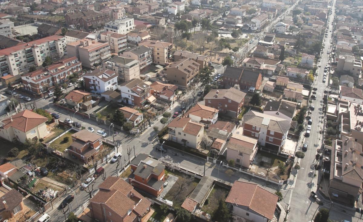 Vista aérea de Parets del Vallès
