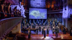 Concierto de Sant Esteve 2020 en el Palau, con presencia de Elena Gadel en el escenario