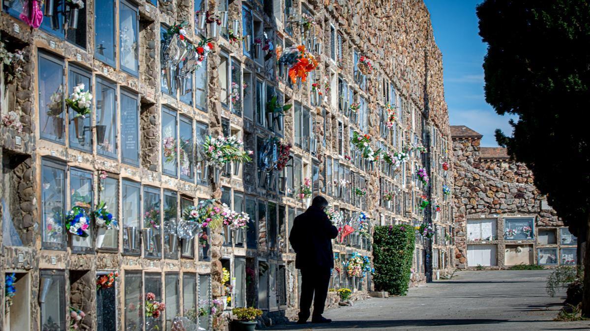 Un ala del Cementerio de Montjuïc, el pasado 1 de noviembre.