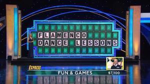 Panel resulto del programa 'Wheel of fortune'