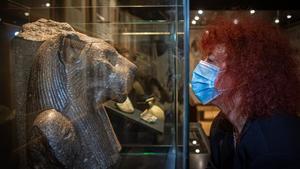La egiptóloga Joann Fletcher, en el Museu Egipci de Barcelona, la pasada semana.