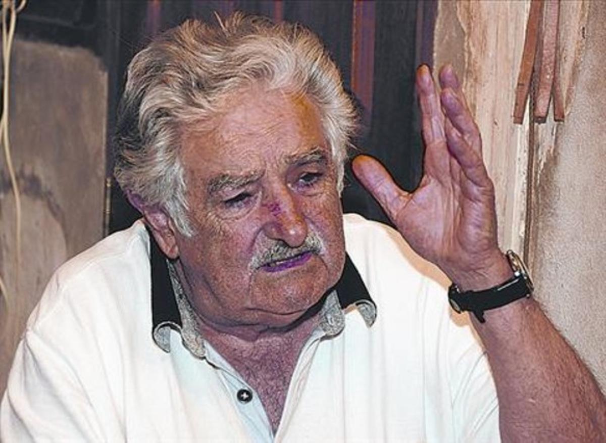 José Mujica, durante la entrevista en su casa con 'Más Periódico'.