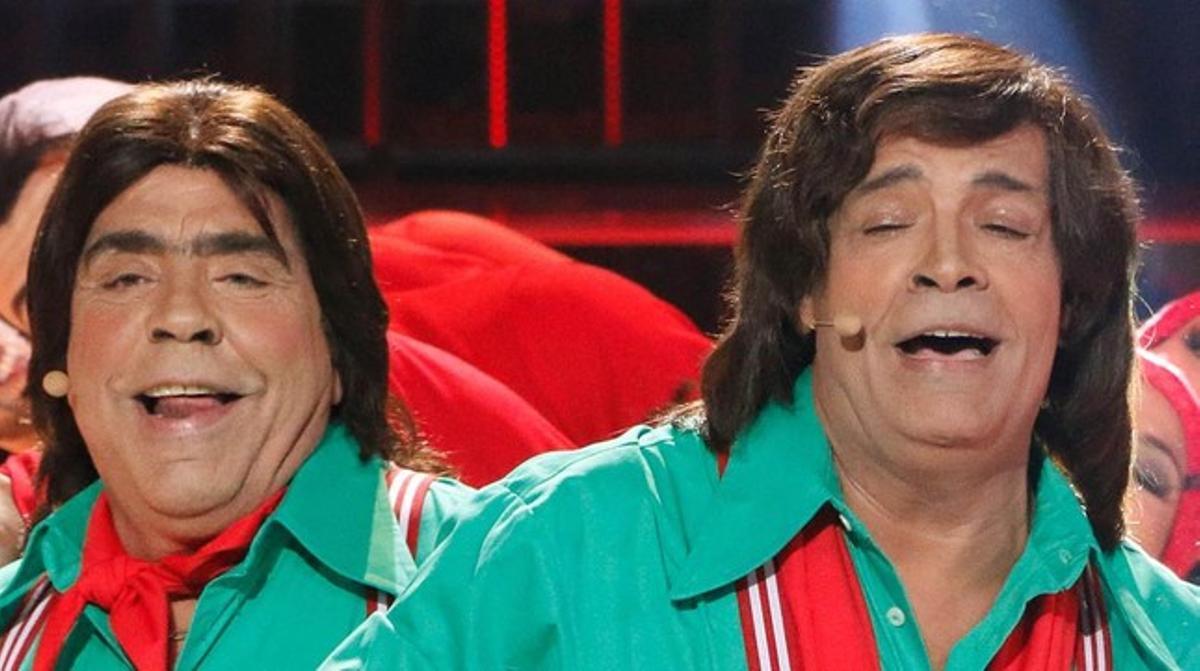 Los Chunguitos, durante una actuación en el programa de A-3 'Tu cara me suena'.