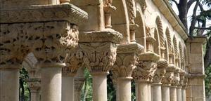 Capiteles del claustro del Mas del Vent de Palamós