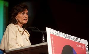 Calvo: «Abans del 8-M cal perfeccionar la llei contra la violència sexual»