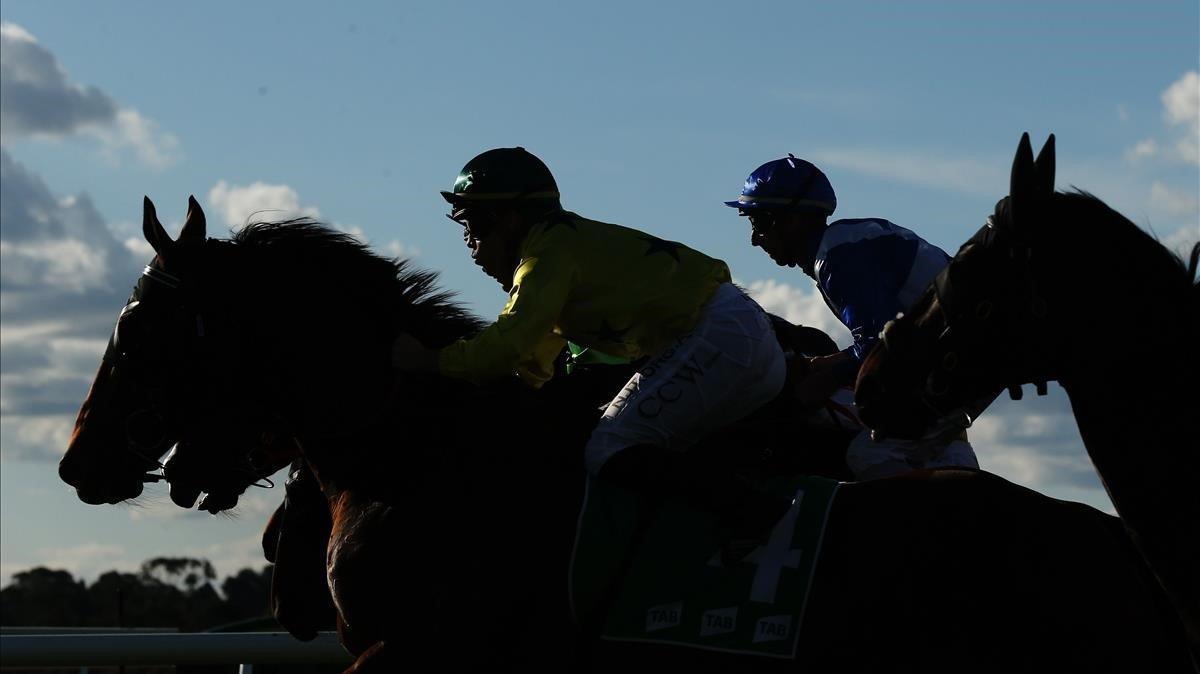 Una carrera de caballos, totalmente ajena al escándalo por dopaje.