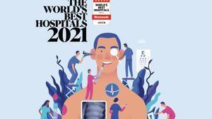 Ilustración de la revista 'Newsweek' para acompañar su ranking de hospitales