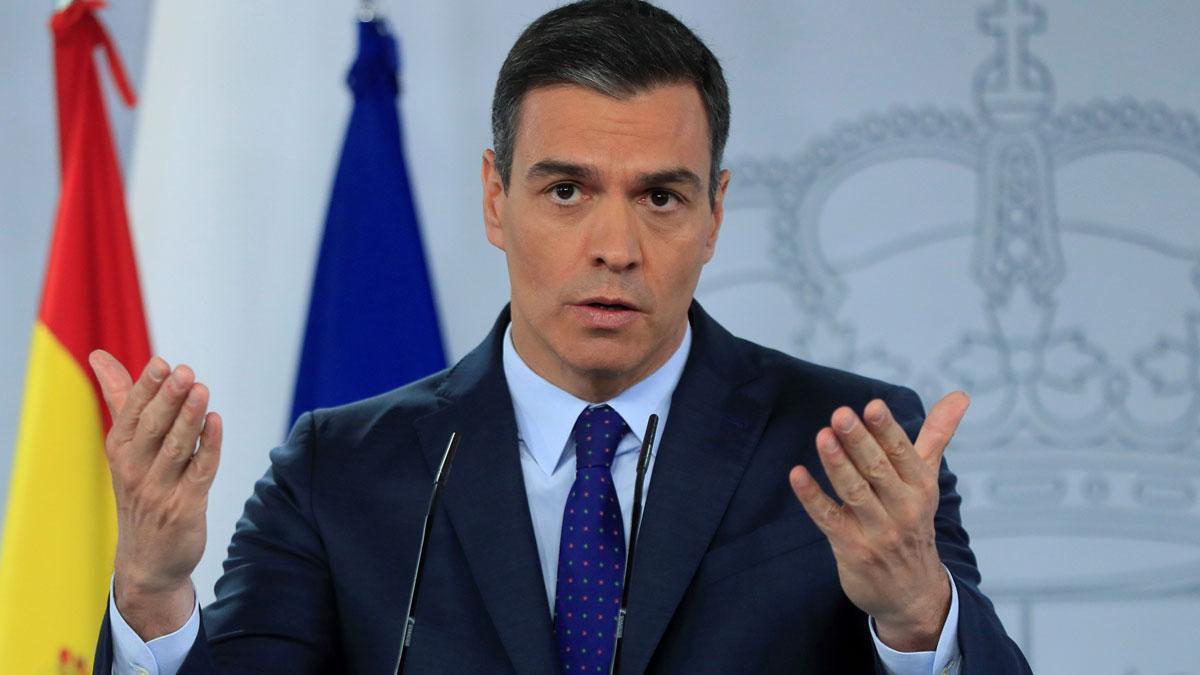 España levantará controles con países de la UE el 21 de junio. En la foto, el presidente del Gobierno, Pedro Sánchez.