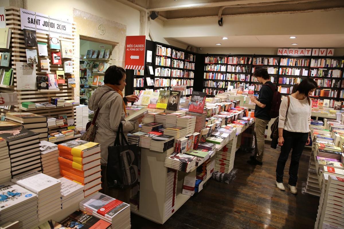 Una libreríade Barcelona.